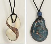 tagua nut contemporary pendant necklaces from Ecuador.