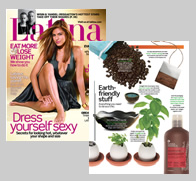 Latina Magazine - November cover and Earth-friendly pages.