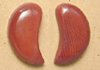 214td-BU tagua nut earrings.