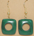 green unity loop earrings from tagua nuts.