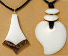 contemporary tagua nut pendants.