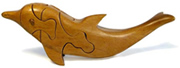 dolphin puzzle crafted in Bolivia.