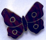 tagua nut Butterfly available as pin, pendant or earrings.