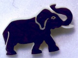Elephant tagua nut Pin, also available as earrings and pendant.