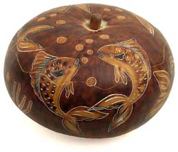gourd fish design box from Peru.
