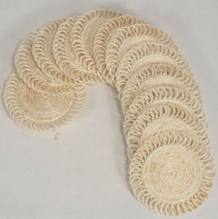 Sisal coasters - natural color - from Haiti.