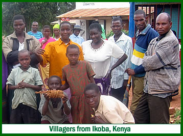 Villagers from Ikoba, Kenya, Africa.