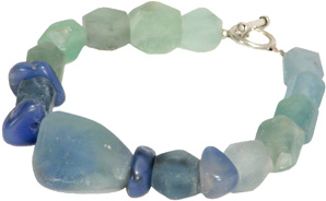 Stacked Fluorite Bracelet, from Afghan women.