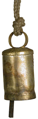 Extra Small metal bell from India.