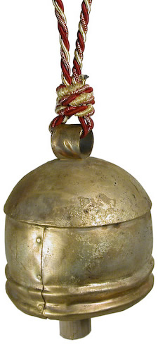 recycled metal bell from India.
