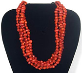4 strand seed bead necklace from Colombia.