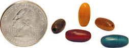 12mm barrel shaped tagua nut beads from the rainforests.