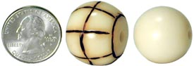be24b and be20r: 24mm wood burnt round tagua nut bead with 4mm hole & 20mm round tagua nut bead.