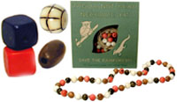 tagua nut beads. also carry tagua nut slices and button blanks.