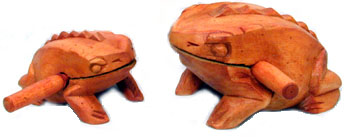 Wooden Frog Bop from Vietnam - percussion instrument.
