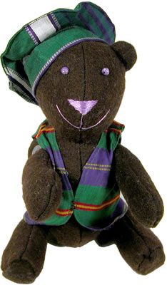 Handmade Teddy Bear from Afghanistan - buy one and we'll donate 1 to a needy child.