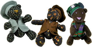 3 new Teddies for Two - Afghanistan teddy bears help needy children and women in Afghanistan.