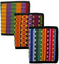 Brights or Rainbow color wallets from Guatemala.