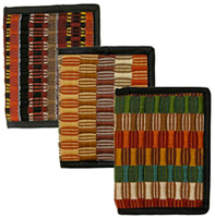 Earthtone cotton woven wallets from Guatemala.