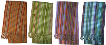 Guatemalan cotton scarves.