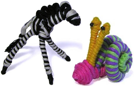 Zebra and Snail - crafted in Colombia.