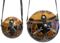 Gourd Purse with butterfly designs.