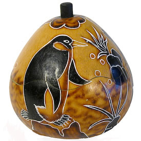 Penguin Gourd Box - from Peru.