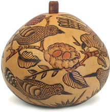 small bird gourd box from Peru.