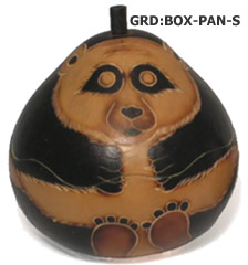 Small gourd panda box from Peru.