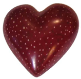 Maroon soapstone heart with speckles from Kenya, Africa.