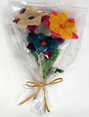 Bouquet of Loofah Flowers for that special someone.
