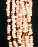 closeup of the Czech beads in this Kenyan necklace.