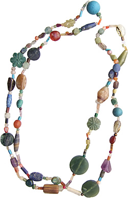 Double Mixed Stone Necklace from Afghanistan women.