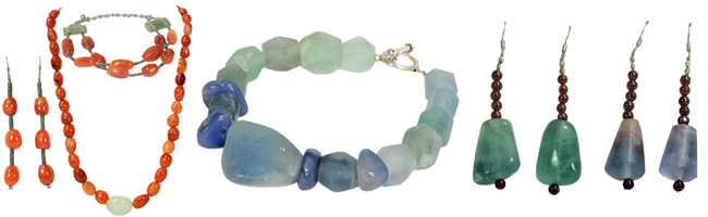 New Semi-Precious stone jewelry crafted by Afghan women.