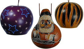 Gourd Christmas Ornaments from Peru.