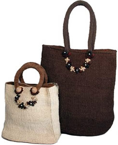 medium sisal handbags from Kenya, Africa.