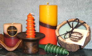 Candles from Peru and Guatemala - great aromatherapy scents.