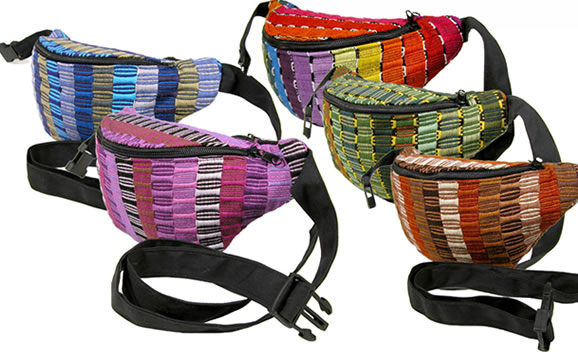 Panel waist packs in multiple colors.