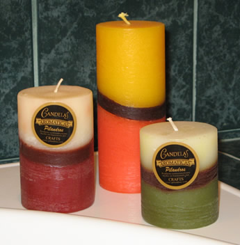 Pillar Candles from Guatemala City.
