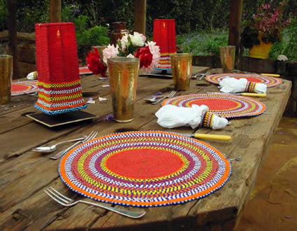 Holiday Samburu Table Package - beaded elegance for your table.