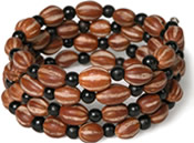 Coiled seed bracelet - Palmita and Chirilla seeds from Colombia.