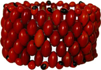 SE-WB2 : Red seed bracelet from Colombia.