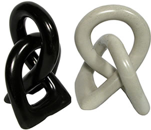 Kenyan soapstone carving - friendship knot.