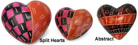 Soapstone Split Hearts from Kenya.
