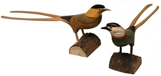 Split tail bird (plus herons) now back in stock.