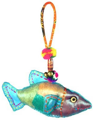 Tropical Fish Christmas ornament from Thailand.