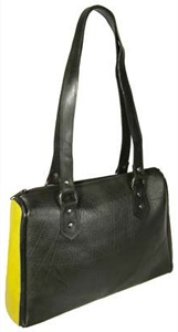 Tete: recycled tire tubes and recycled leather handbag crafted in El Salvador. Fair Trade.