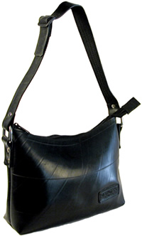 Recycled tire inner tube purse - Adela style - from El Salvador.