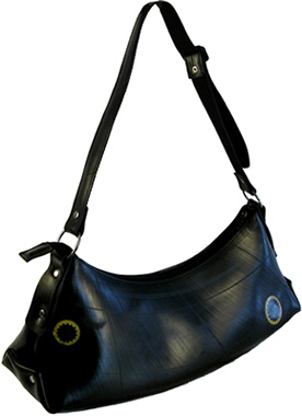 Recycled Tire / Tube purse from El Salvador - Afra.