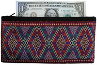 Zippered money pouch from Afghanistan.
